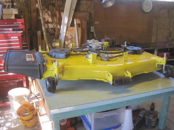 Photo New John Deere Deep Accel 48quot Mower Deck - $350 (Dennisport Cape Cod)