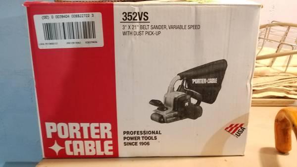 Photo Porter Cable 3quot Variable Speed Belt Sander - $180 (Centerville)