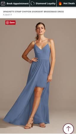 Photo Steel Blue David39s Bridal Dress size 16 - $45 (Dennis)