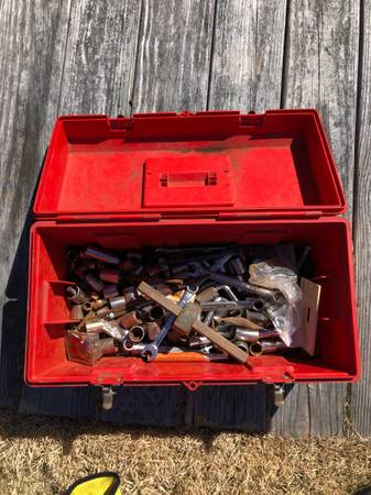 Photo Tool Box with tools - $25 (Bourne)