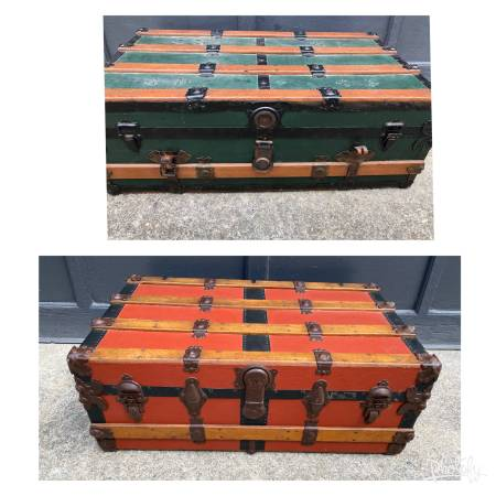 Photo Two Antique Trunks, steamer Storage Chests - $300 (Buzzards bay)