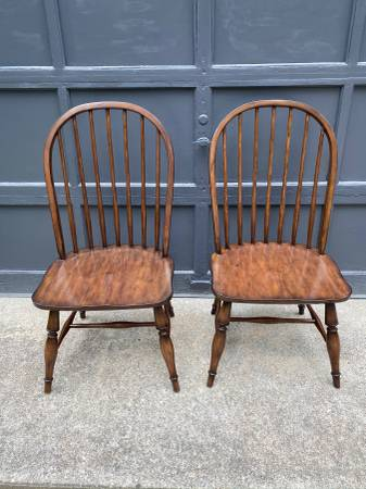 Photo Two Large Pottery Barn Maple Dining Chairs - $250 (Buzzards bay)