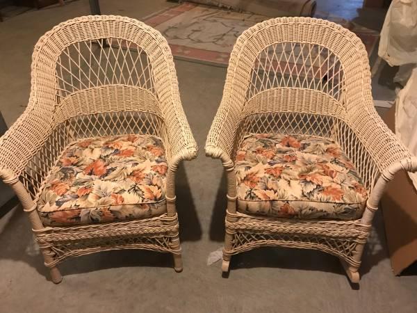 Photo White Wicker Furniture - $200 (Falmouth)
