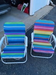 Photo kids beach chairs (East Falmouth)