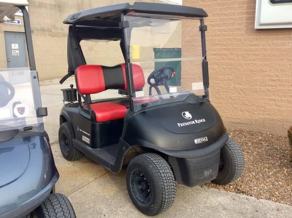 Photo 2016 E-Z-GO RXV Custom Golf Cart Matte Black - $3200 (AACO EVANSVILLE)