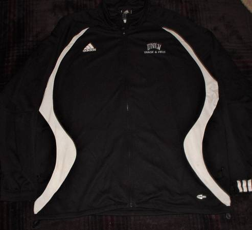 Photo Adidas UNLV Track  Field Team Issued XL Warm-Up Jacket Climacool - $20