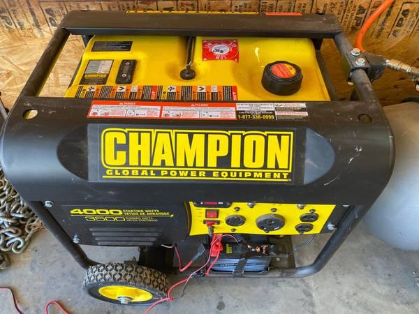 Photo Chion 3500-Watt Electric Start Generator - $350 (Mt Vernon)