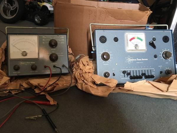 Photo Commercial Trades TC-10 tube checker  VT-20 multi-meter voltmeter set - $100 (Raleigh)