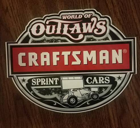 Photo Craftsman World of Outlaws sprint car decalsticker (Mt Vernon IL)