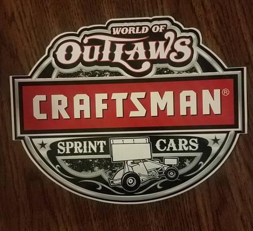 Photo Craftsman World of Outlaws sprint car decalsticker (Mt Vernon IL)