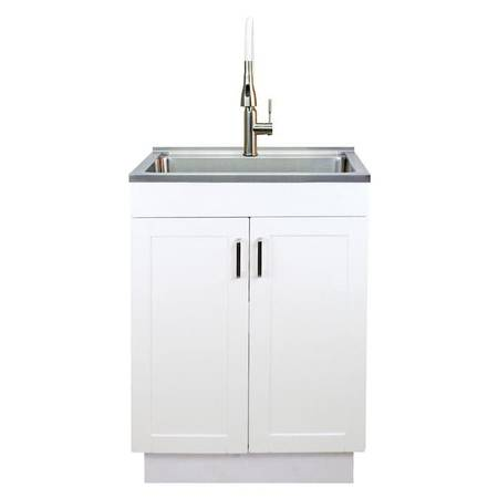 Photo New TRANSOLID Stainless Steel Laundry Sink wCabinet and Faucet - $295 (OakvilleS.County)