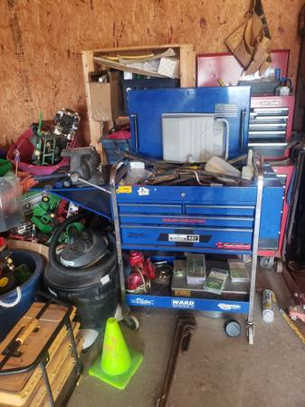 Photo Snap on roll around tool cart - $300 (Coulterville)