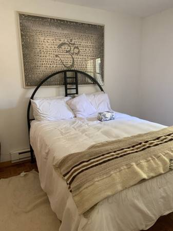 Photo Black Metal Frame Deco Queen Bed - $300 (North Branch)