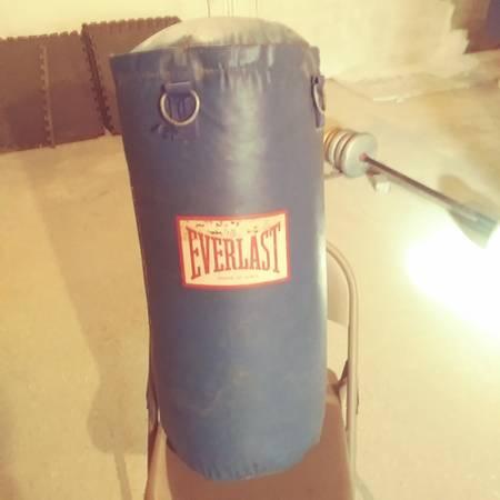 Photo Everlast heavy bag and Tko stand - $65 (Harriman)