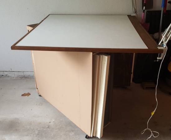 Photo Mat cutting table with storage - $185 (Northton, MA)