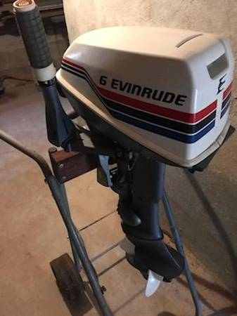 Photo Mirrocraft 1439 Aluminum Fishing Boat and Evinrude 6HP Outboard Motor - $1,600 (Pittsfield)