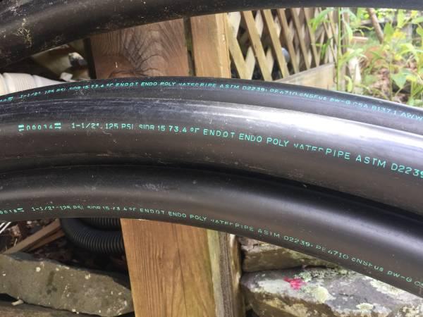 Photo Plastic water pipe, well pipe, 100ft - $50 (Halcottsville)