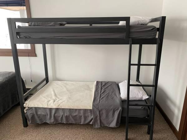 Photo Restoration Hardware INDUSTRIAL LOFT TWIN BUNK BED (WINDHAM)