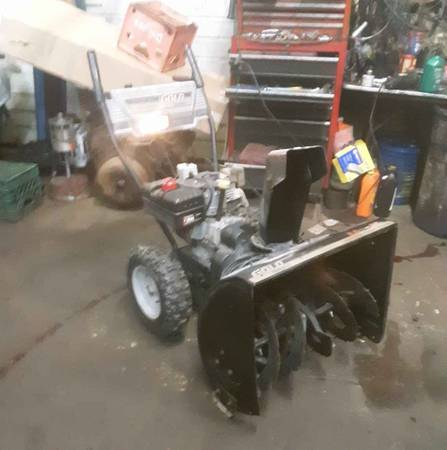 Photo Sears yardsman gold two-stage self-propelled 26 inch cut blower - $220 (Liberty ny)