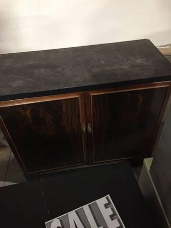 Photo Sideboard Black  Brown Solid Wood - $95 (The East Durham Indoor Flea Market)