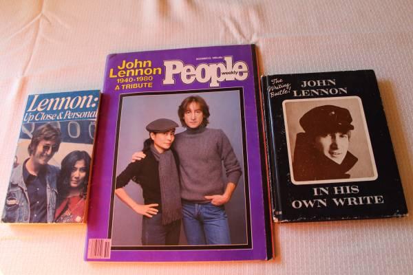 Photo Vintage John Lennon Books 1964 and Magazine 1980 - $25 (Wappingers falls ny)