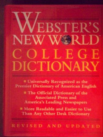 Photo Webster39s New World College Dictionary - $5 (Clifton Park 12065)