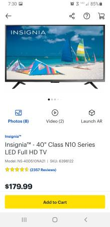 Photo 40 inch 1080p insignia - $80 (Fairfax)