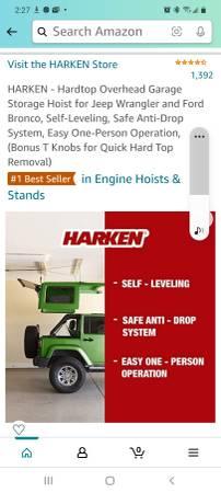 Photo Bestop Ultra Soft Top Square and Harken garage hoist - $1,800 (Cedar Rapids)