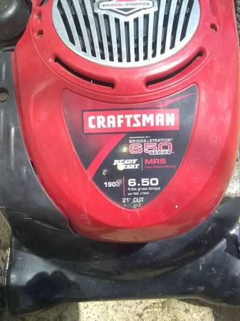 Photo Craftsman 21 inch 6 12 horse Briggs  Stratton bagger push mower - $100 (Cedar Rapids)