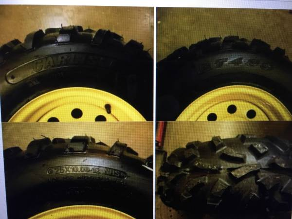 Photo John Deere Gator AT489 25x10x12 NEW ATVUTV tires - $80 (shueyville)