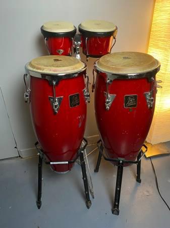 Photo LP Aspire congas and bongos - $250 (Cedar Rapids)