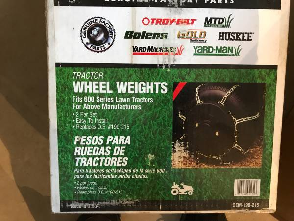 Photo Lawn mower wheel weights - $30 (Walker)