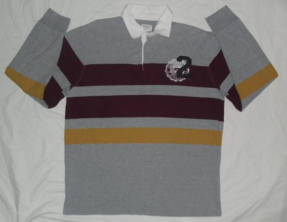 Photo Men39s American Eagle Long Sleeve Rugby Polo Shirt size XL - $10 (Cedar Rapids)