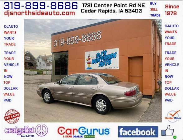 Photo ONE OWNER... 2002 BUICK LESABRE CUSTOM 114,000 MILES 3.8L V6 - $4,900 (1731 CENTER POINT RD 319-899-8686 DJS NORTHSIDE AUTO.COM)