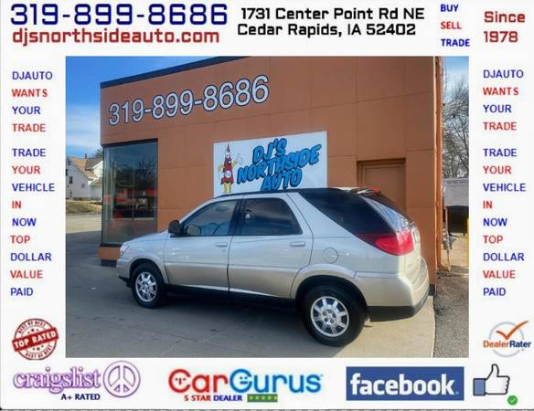 Photo ONLY 92,000 MILES... 2005 BUICK RENDEZVOUS FRONT WHEEL DRIVE - $5000 (1731 CENTER POINT RD 319-899-8686 DJS NORTHSIDE AUTO.COM)