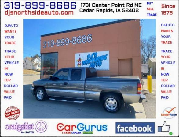 Photo ONLY 93,000 MILES.. 2000 GMC SIERRA 1500 X-CAB 4X2 5.3L V8 TOW PACK - $6500 (1731 CENTER POINT RD 319-899-8686 DJS NORTHSIDE AUTO.COM)