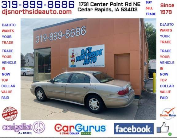 Photo ONLY 97,000 MILES 2001 BUICK LESABRE CUSTOM 3800 SERIES II REALCLEAN - $4,900 (1731 CENTER POINT RD 319-899-8686 DJS NORTHSIDE AUTO.COM)