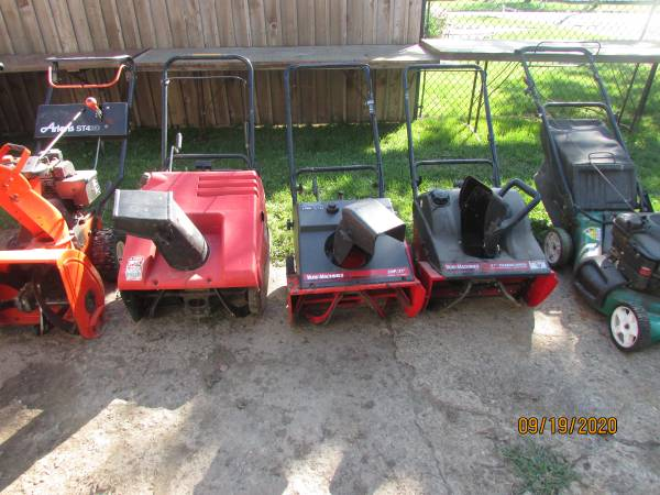 Photo Snow blowers lawn mowers (Monticello)