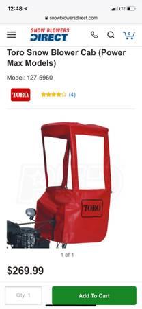 Photo Toro Snowblower Cab (Powermax) part 127-5960  Used - $90 (Cedar Rapids)