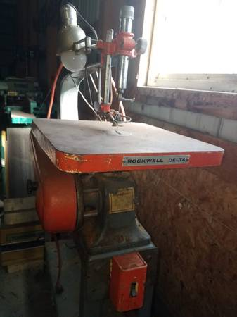 Photo Vintage, Rockwell Delta Scroll Saw - $125 (Marion)