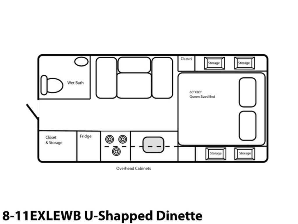 Photo 2021 Northern Lite Limited Edition 8-11EXLEWB U-Shaped Dinette $57246