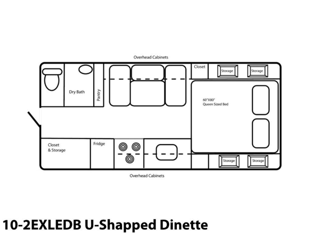 Photo 2021 Northern Lite Limited Edition 10-2EXLEDB U-Shaped Dinette $59711