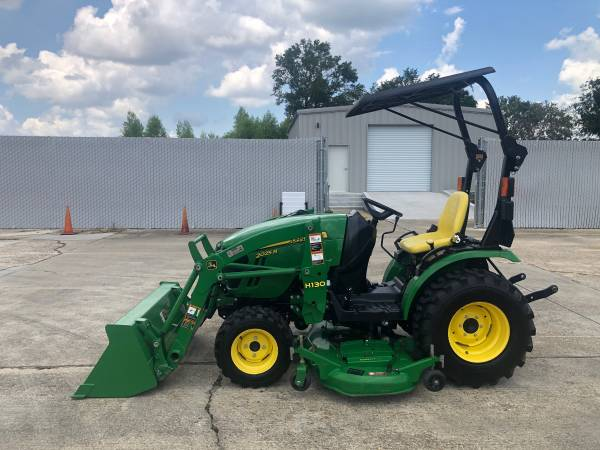 Photo John Deere 2025R Tractor 25HP 4WD Front Loader HST Belly Mower 186Hr - $17,900 (Baton Rouge)
