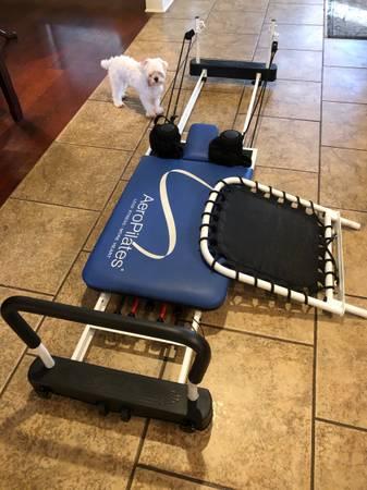 Photo Never used Aero Pilates 5 cord reformer machine paid $700.. $295 firm - $295 (Prairieville)