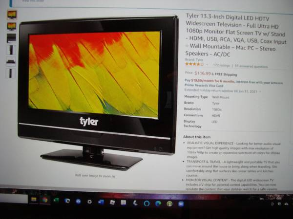 Photo TV - 13 inch LED TV - $50 (Lafayette)