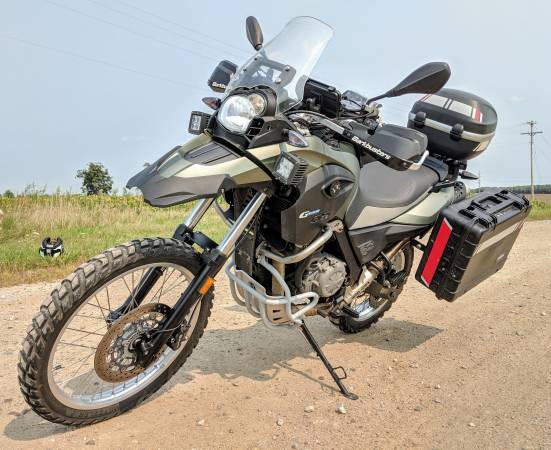 Photo 2012 BMW G650GS Sertao (lots of parts) - $5,800 (Lowell)