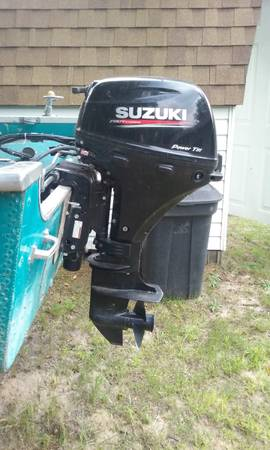 Photo 2017 SUZUKI 9.9 HP Gas Outboard Motor  Vintage Starcraft - $1,400 (Gladwin (M30  M 61 area))