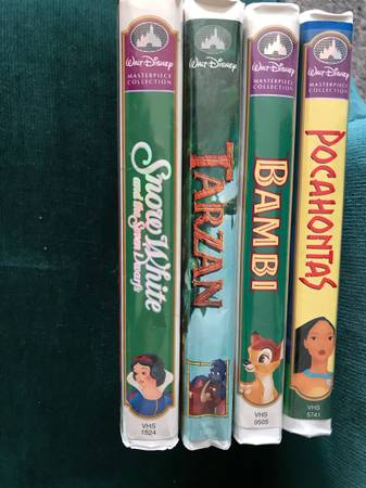 Photo 4 DISNEY VHS tapes - $8 (Muskegon)