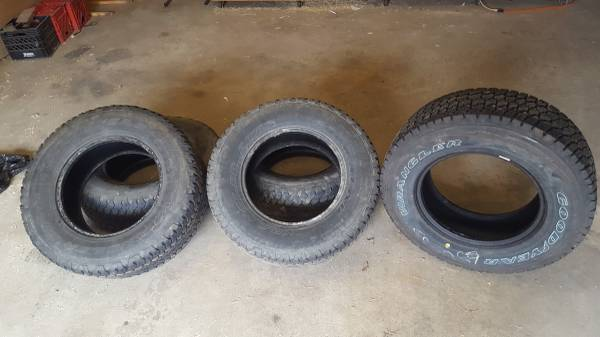 Photo 5 Goodyear Wrangler 26570r17 and 2 Toyo Open Country 28570r17 Tires - $350 (Farwell)