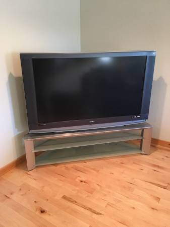 Photo Big screen TV and stand - $80 (Clare)